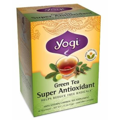 Yogi Green Tea Super Antioxidant Herbal Supplement Tea Bags - 16 Ea (Pack of 6)