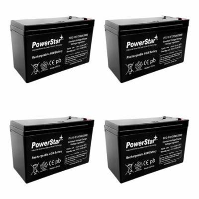 RBC24 Kit 12V 9AH by PowerStar-4Pack