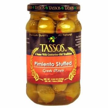 Greek Olives Stuffed with Pimiento (Tassos) 12.84 oz