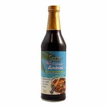 Coconut Secret Organic Raw Coconut Aminos Soy-Free Seasoning Sauce-16.9 Oz