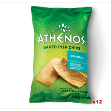 Baked Pita Chips, Original (Athenos) CASE (12 x 9 oz)