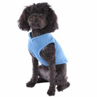 Solid Fleece Vest Soft Dog Sweater Harness with O-Ring, Blue, XL
