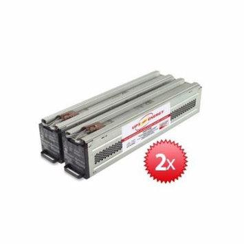 APC Compatible SURT7500RMXLT - 2 RBC44 Cartridge Pair w/ New Batteries Installed