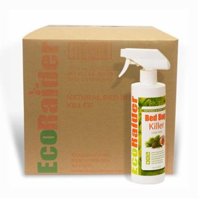 Ecoraider Bed Bug Killer Spray Case of 16 Oz x 16 Units, 100% Killing Effeicay with Residual Protection, Green & Non-toxic,