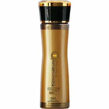 Keratin Cure Best Treatment Gold and Honey Bio 5 Ounces for Silky Soft Hair Formaldehyde Free Professional Complex with Argan Oil Nourishing Straightening Damaged Dry Frizzy Coarse Curly Wavy Hair