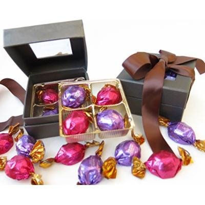 Godiva brown ribbon gift box. elegant window chocolate gift box includes milk and dark godiva truffle;es
