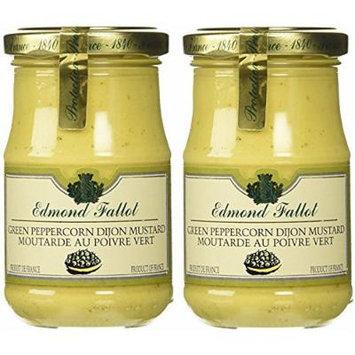 Edmond Fallot Green Peppercorn Dijon Mustard, 7.4 oz Jar (Pack of 2)