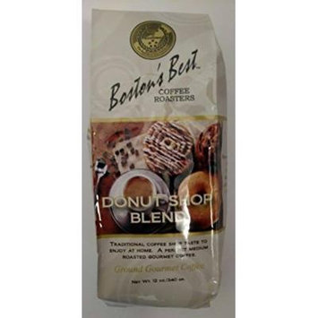 Bostons Best Ground Gourmet Coffee Donut Shop Blend 12 oz