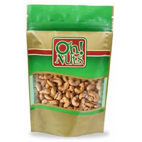 Dry Roasted Cashews Unsalted - Oh! Nuts (1 LB Dry Roasted Cashews Unsalted)