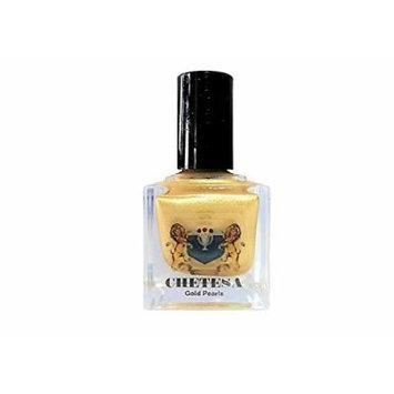 CHETESA Gems Collector Nail Lacquer Non-Toxic, Gold Pearls, 0.5 oz.