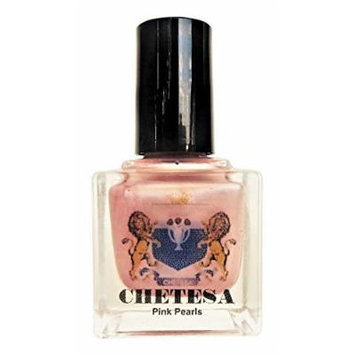 CHETESA Gems Collector Nail Lacquer Non-Toxic, Pink Pearls, 0.5 oz.