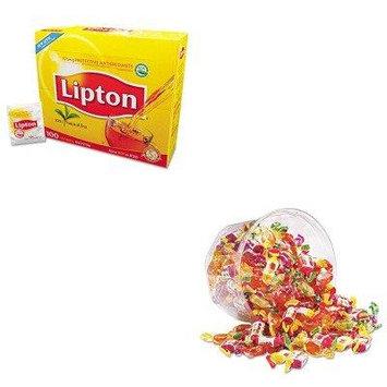 KITLIP291OFX00039 - Value Kit - Office Snax European Fruit-Filled Chews (OFX00039) and Lipton Tea Bags (LIP291)