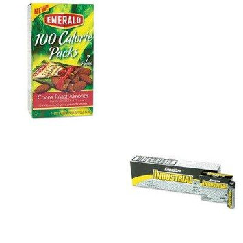 KITDFD84325EVEEN91 - Value Kit - Emerald 100 Calorie Pack Dark Chocolate Cocoa Roast Almonds (DFD84325) and Energizer Industrial Alkaline Batteries (EVEEN91)