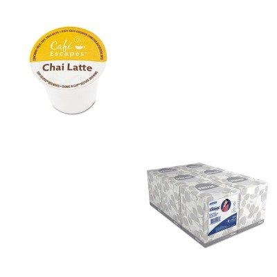 KITGMT6805CTKIM21271 - Value Kit - Green Mountain Coffee Roasters Caf Escapes Chai Latte K-Cups (GMT6805CT) and KIMBERLY CLARK KLEENEX White Facial Tissue (KIM21271)