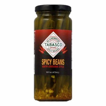 Tabasco Vegetable Green Beans Spicy, 16 OZ (Pack of 6)