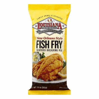 Louisiana New Orleans Style Fish Fry Seafood Breading Mix, 10 OZ (Pack of 12)