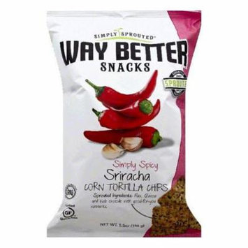 Way Better Simply Spicy Sriracha Corn Tortilla Chips, 5.5 OZ (Pack of 12)