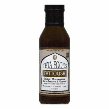 Teta Foods Fattoush Gourmet Mediterranean Salad Dressing & Marinade, 12 OZ (Pack of 12)