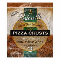 Pastorelli 100% Whole Wheat Ultra Thin & Crispy Roman Pizzeria Style Pizza Crust, 15 Oz (Pack of 10)