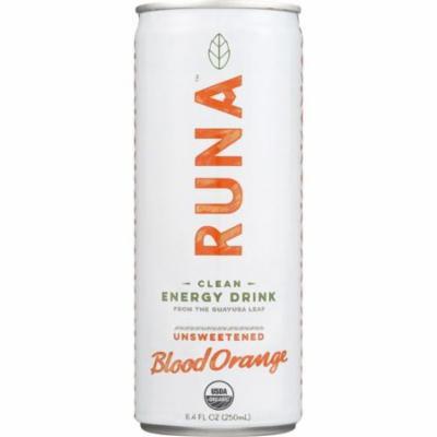 Runa Guayusa Beverage, Sparkling, Orange Passion, 8.4 Oz (Pack Of 24)