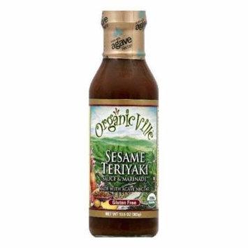 OrganicVille Sesame Teriyaki Sauce & Marinade, 13.5 OZ (Pack of 6)