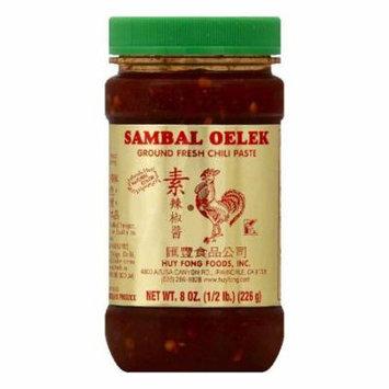 Huy Fong Sambal Oelek Ground Fresh Chili Paste, 8 OZ (Pack of 12)