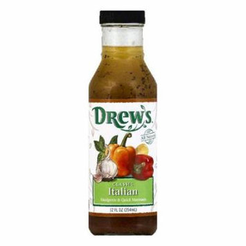 Drews Classic Italian Vinaigrette & Quick Marinade, 12 OZ (Pack of 6)