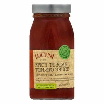 Lucini Pasta Sauce Spicy Tuscan Tomato, 25.5 FO (Pack of 6)