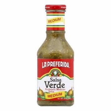 La Preferida Verde Medium Salsa, 16.4 OZ (Pack of 12)