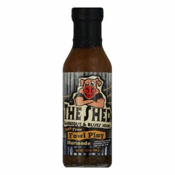 The Shed BBQ Fowl Play Marinade, 13.5 OZ (Pack of 6)