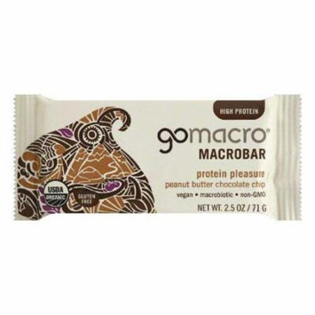 Gomacro organic peanut butter chocolate chip bar, 2.5 oz, (pack of 12)