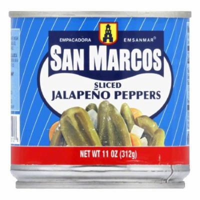 San Marcos Sliced Jalapeno Tin, 11 OZ (Pack of 12)