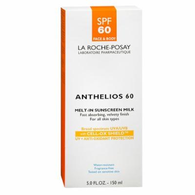 La Roche-Posay Anthelios Melt-In Susncreen Milk For Face And Body, Spf 60 - 5 Oz, 6 Pack