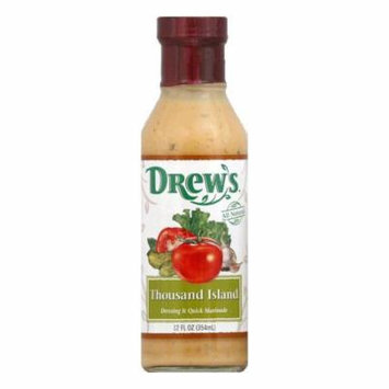 Drews Thousand Island Dressing & Quick Marinade, 12 Oz (Pack of 6)