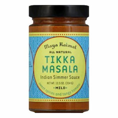 Maya Kaimal Mild Tikka Masala Indian Simmer Sauce, 12.5 Oz (Pack of 6)