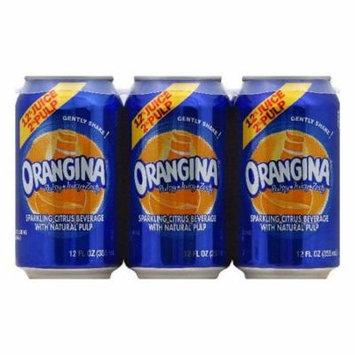 Orangina Sparkling Citrus Beverage with Natural Pulp, 12 Fo (Pack of 4)