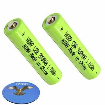 HQRP TWO Phone Batteries for Panasonic KX-TG6671 KX-TG6671B KX-TG6672 KX-TG6672B KX-TG6445T KX-TG6473PK KX-TG6511 KX-TG6511B KX-TG6512 KX-TG6512B KX-TH1211 KX-TG9321 Cordless Telephone + Coaster