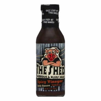 The Shed BBQ Spicy Southern Vinegar BBQ Sauce, 14 OZ (Pack of 6)