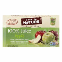 Back to Nature 8pk All Natural Apple Juice, 48 OZ (Pack of 5)