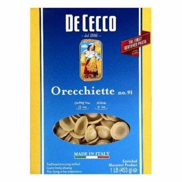 De Cecco No. 91 Orecchiette, 1 lb (Pack of 12)
