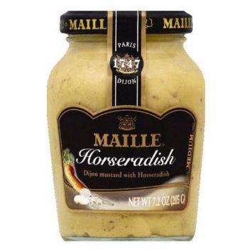 Maille Medium Dijon with Horseradish Mustard, 7.2 OZ (Pack of 6)