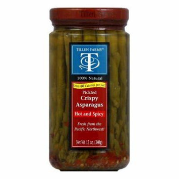 Tillen Farms Spicy Hot Pickled Asparagus, 12 OZ (Pack of 6)