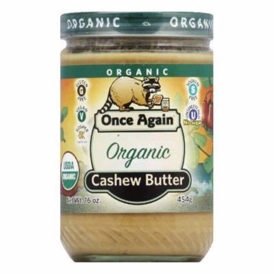 Once Again Nut Butter Cashwe No salt Organic Smooth, 16 OZ (Pack of 6)