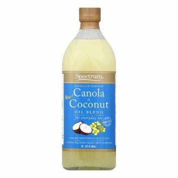 Spectrum Expeller Pressed Canola & Coconut Oil Blend, 32 Oz (Pack of 12)
