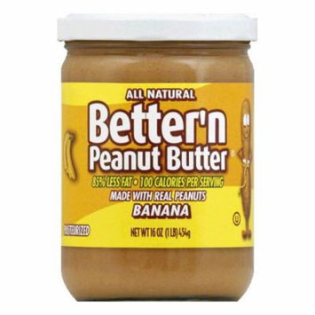 Better N Peanut Butter Peanut Banana Spread, 16 OZ (Pack of 6)
