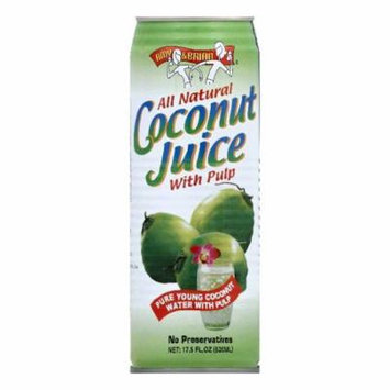 Amy & Brian Coconut Juice with Pulp, 17.5 OZ (Pack of 12)