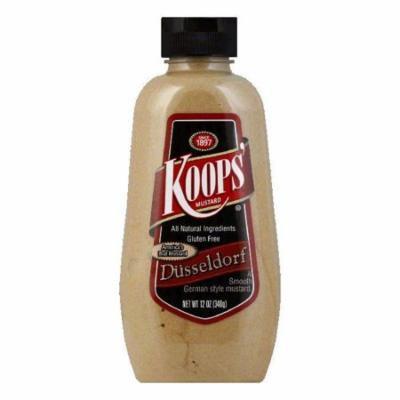Koops Mustard Dusseldorf Squeeze, 12 OZ (Pack of 12)