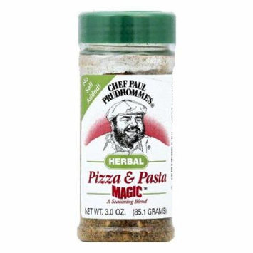 Chef Paul Prudhommes Herbal Pizza & Pasta Seasoning Blend, 3 OZ (Pack of 6)