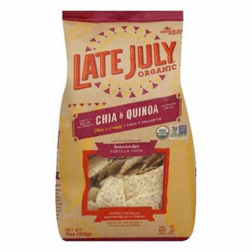 Late July Organic Chia & Quinoa Restaurant Style Tortilla Chips, 11 Oz (Pack of 9)