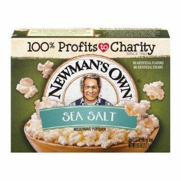 Newmans Own Sea Salt Microwave Popcorn, 3 ea (Pack of 12)